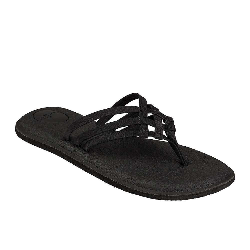 サヌーク Sanuk レディース ヨガ・ピラティス サンダル シューズ・靴【yoga salty sandal】Black