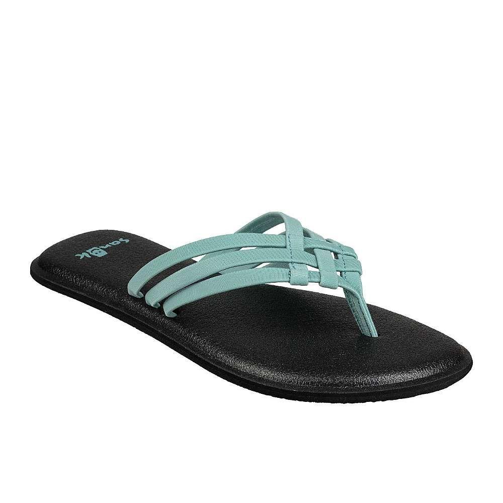 サヌーク Sanuk レディース ヨガ・ピラティス サンダル シューズ・靴【yoga salty sandal】Mineral Blue