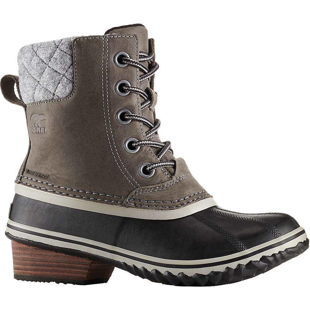 ソレル Sorel レディース ブーツ シューズ・靴【slimpack ii lace boot】Quarry/Black