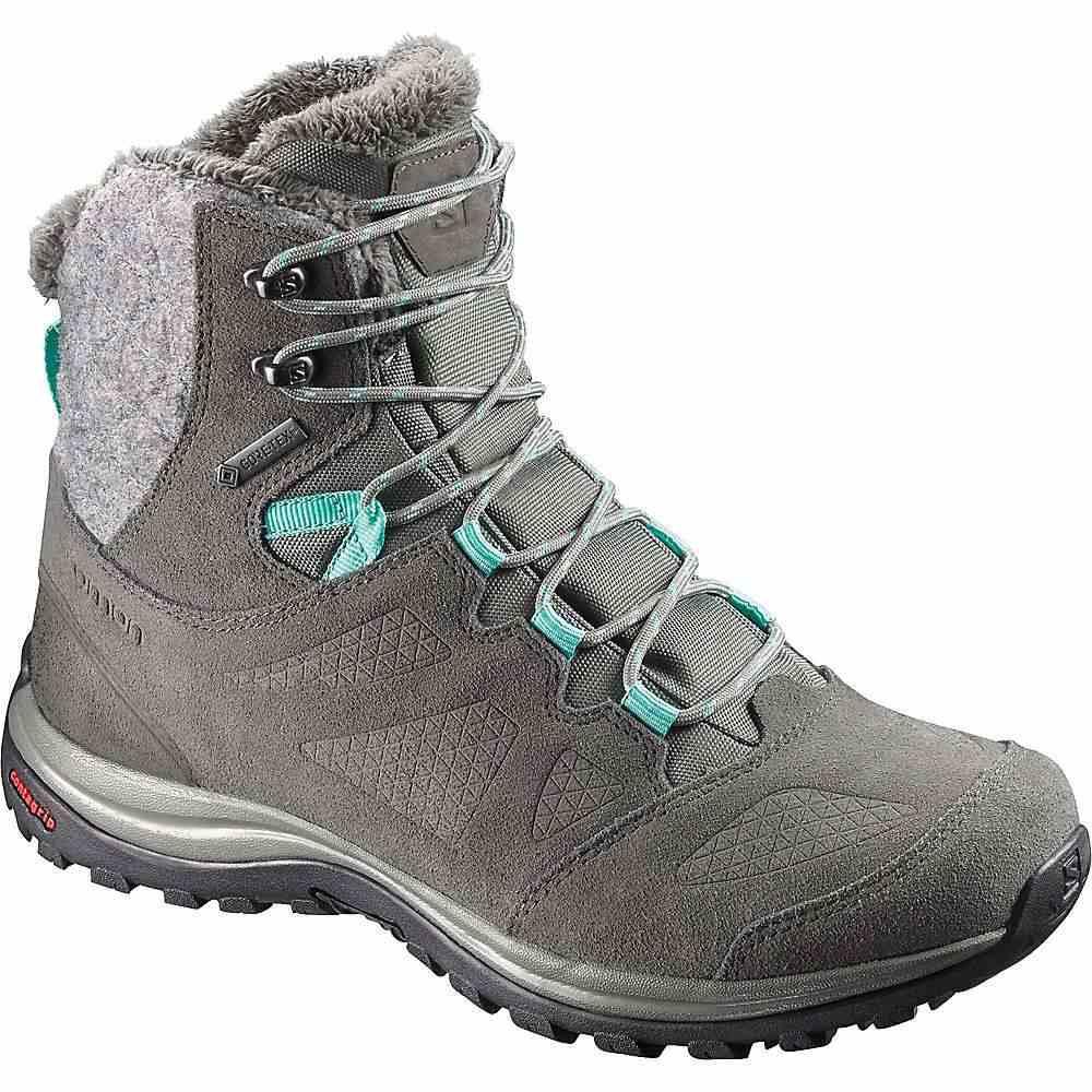 サロモン Salomon レディース ブーツ シューズ・靴【ellipse winter gtx boot】Castor Gray/Beluga/Biscay Green