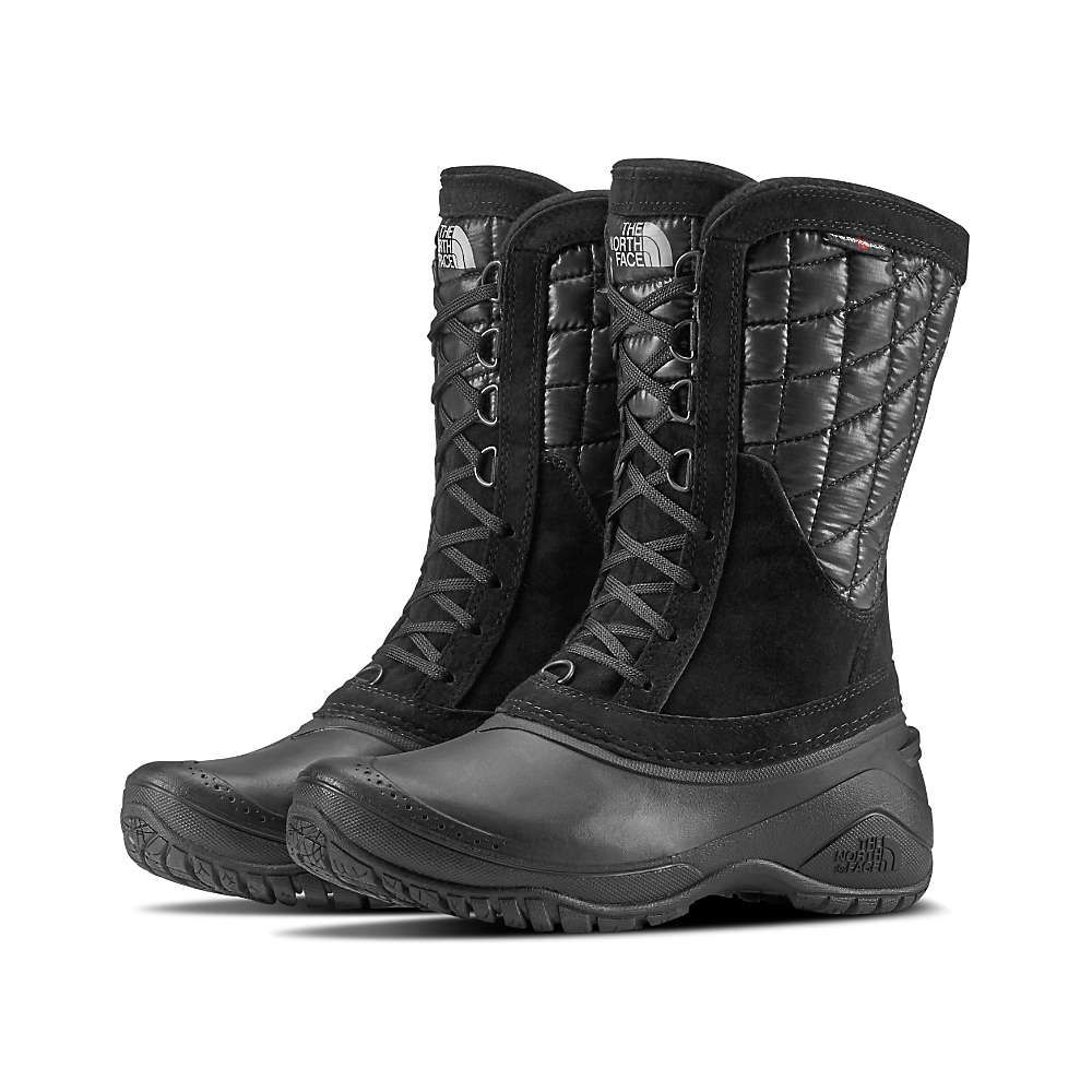 ザ ノースフェイス The North Face レディース ブーツ シューズ・靴【thermoball utility mid boot】Shiny TNF Black/TNF Black