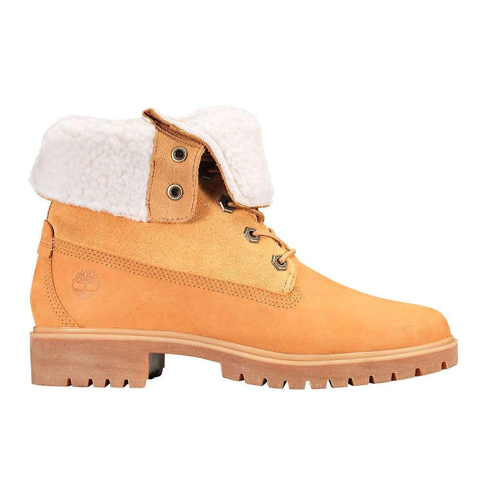ティンバーランド Timberland レディース ブーツ シューズ・靴【jayne waterproof teddy fleece fold down boot】Wheat