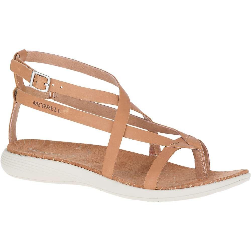 メレル Merrell レディース ビーチサンダル シューズ・靴【duskair seaway leather thong】Natural Tan