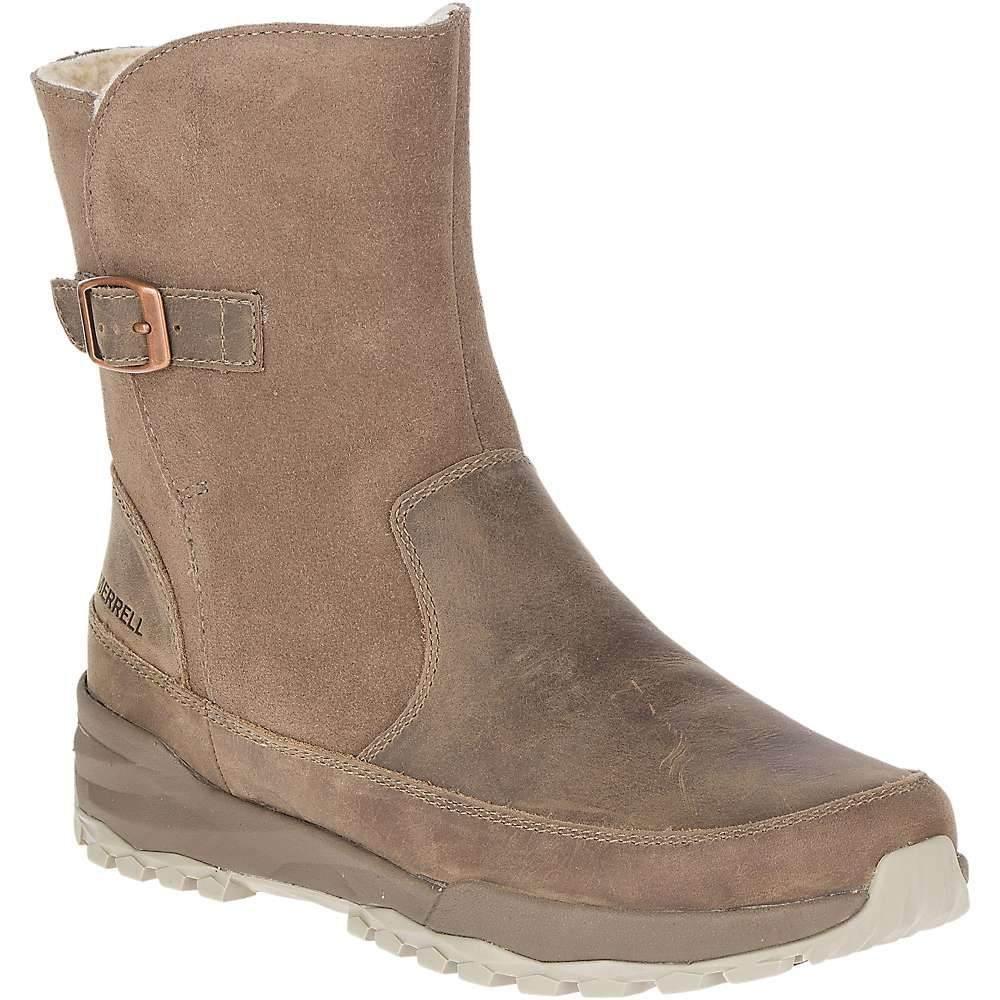 メレル Merrell レディース ブーツ シューズ・靴【icepack guide buckle polar waterproof boot】Stone