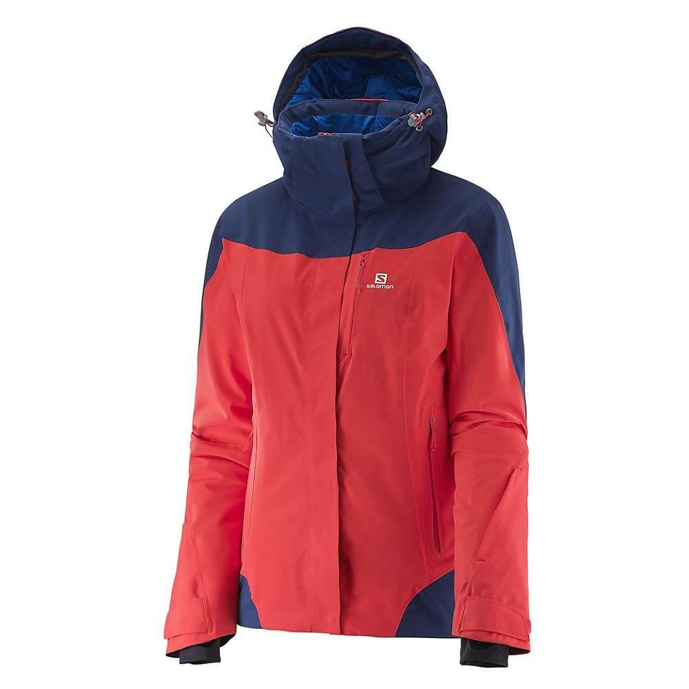 サロモン Salomon レディース スキー・スノーボード ジャケット アウター【icerocket jacket】Infrared/Wisteria Navy