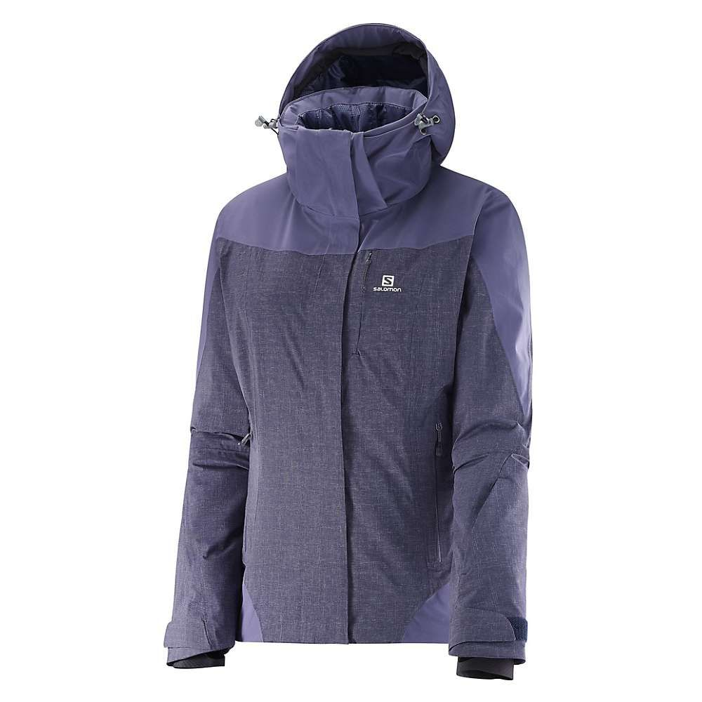 サロモン Salomon レディース スキー・スノーボード ジャケット アウター【icerocket mix jacket】Nightshade Grey/Daybreak Grey