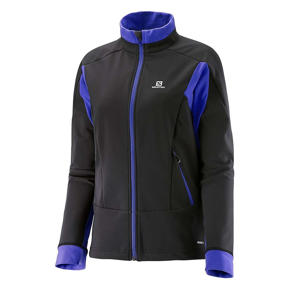 サロモン Salomon レディース スキー・スノーボード ソフトシェルジャケット アウター【momentum softshell jacket】Black/Phlox Violet