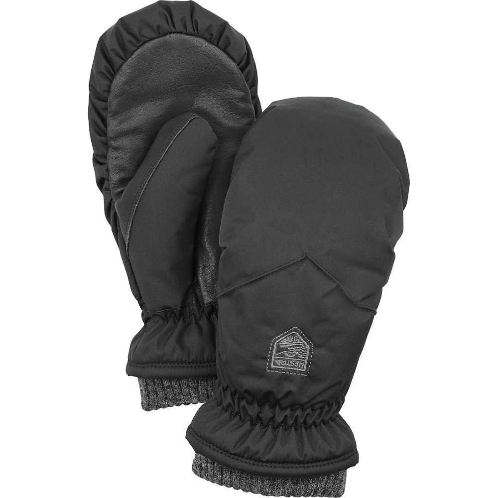 ヘスタ Hestra レディース スキー・スノーボード ミトン グローブ【primaloft rib knit mitt】Black