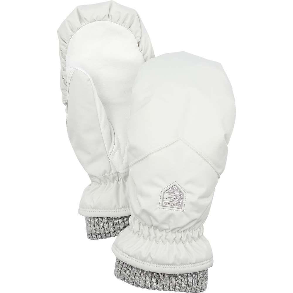 ヘスタ Hestra レディース スキー・スノーボード ミトン グローブ【primaloft rib knit mitt】Off White