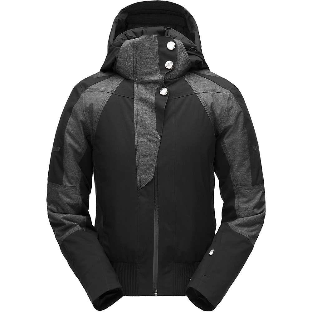 スパイダー Spyder レディース スキー・スノーボード ミリタリージャケット ジャケット アウター【meribel bomber jacket】Black/Black