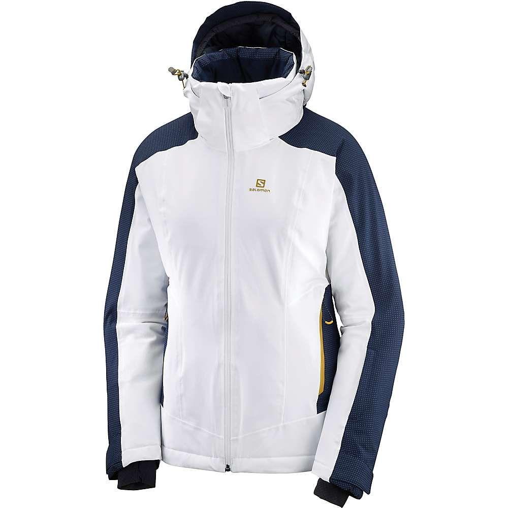サロモン Salomon レディース スキー・スノーボード ジャケット アウター【brilliant jacket】White/Night Sky