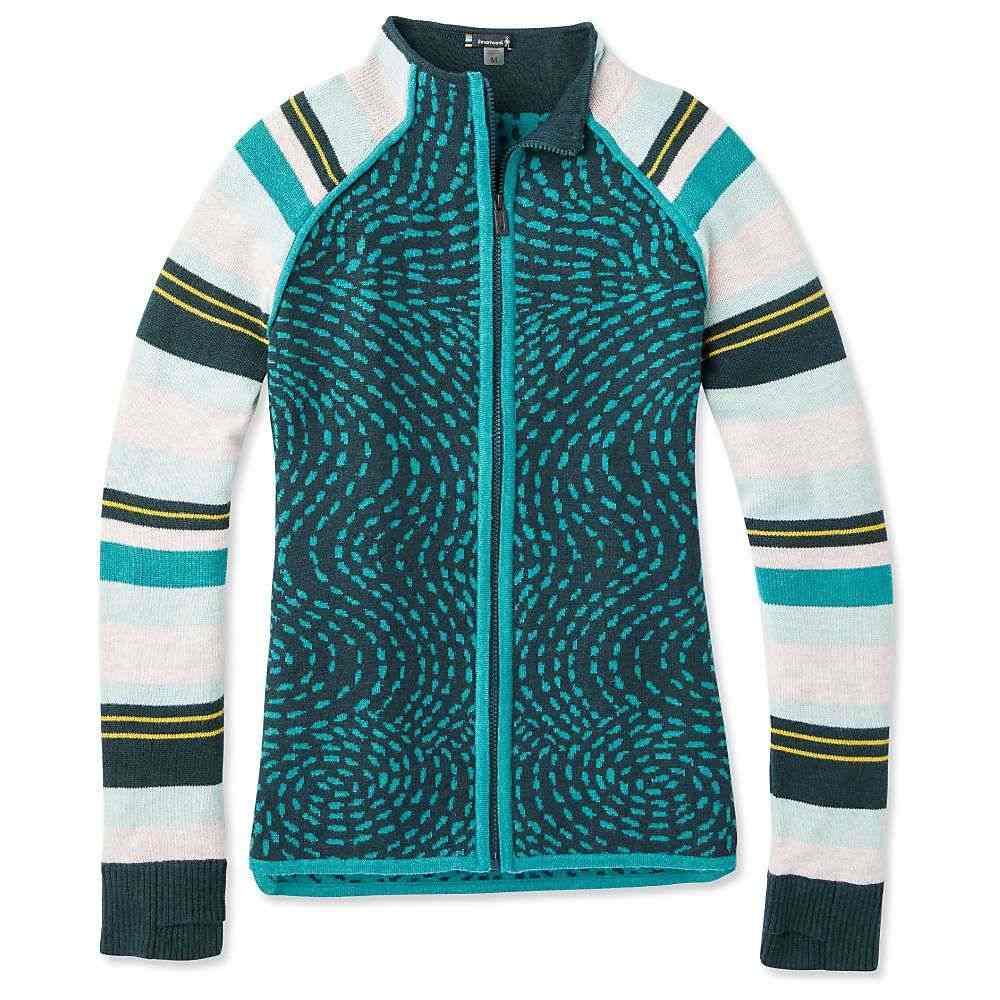 スマートウール Smartwool レディース スキー・スノーボード ニット・セーター トップス【dacono ski full zip sweater】Everglade Heather