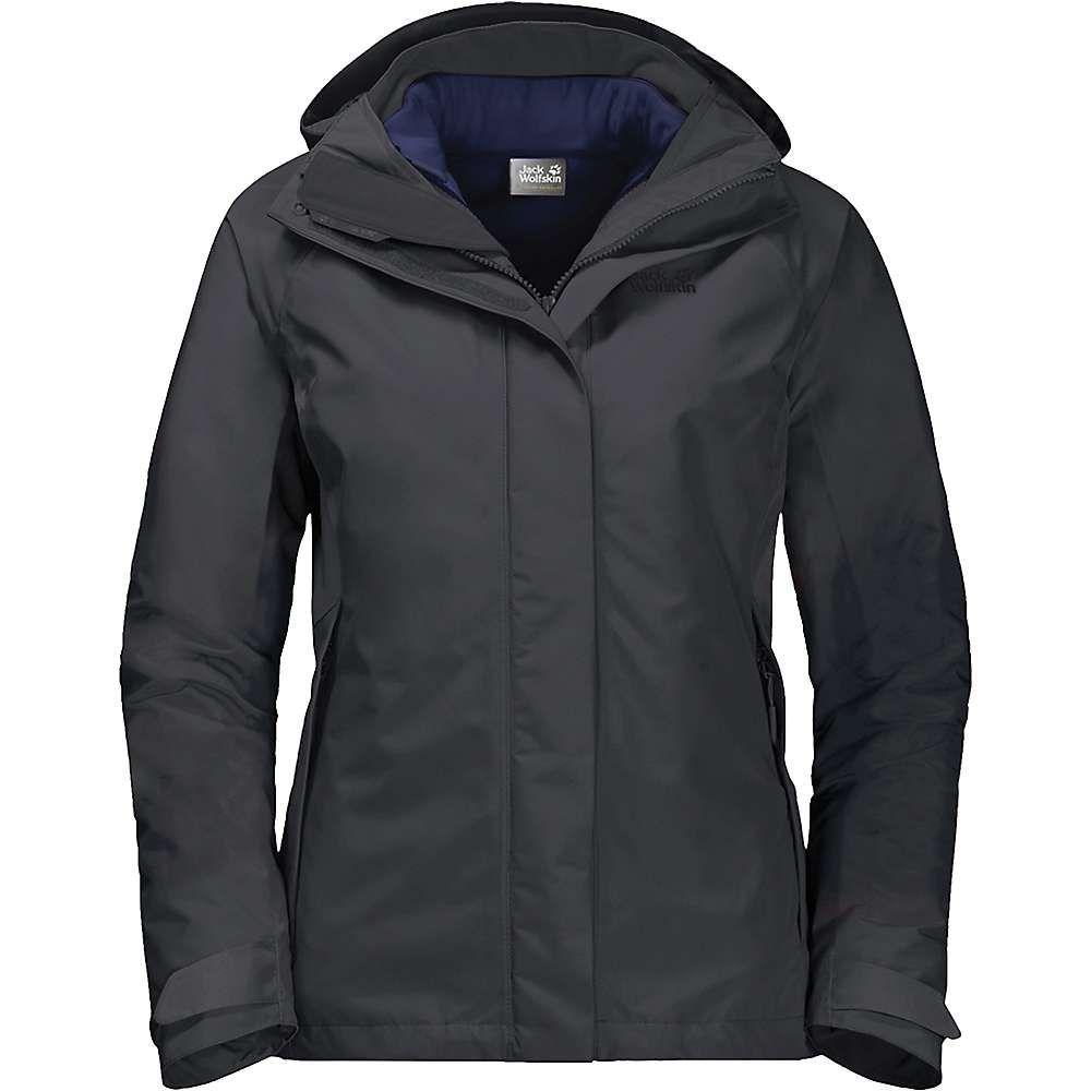 ジャックウルフスキン Jack Wolfskin レディース スキー・スノーボード ジャケット アウター【iceland voyage 3 in 1 jacket】Phantom