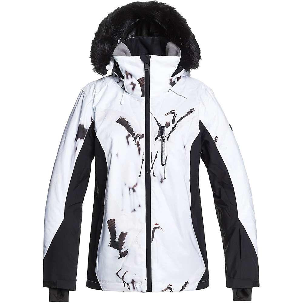 ロキシー Roxy レディース スキー・スノーボード ジャケット アウター【jet ski premium jacket】True Black/White Birds