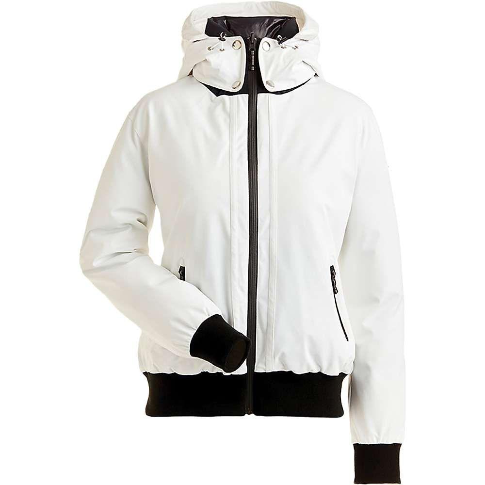 ニルズ Nils レディース スキー・スノーボード ミリタリージャケット ジャケット アウター【julie reversible bomber jacket】White