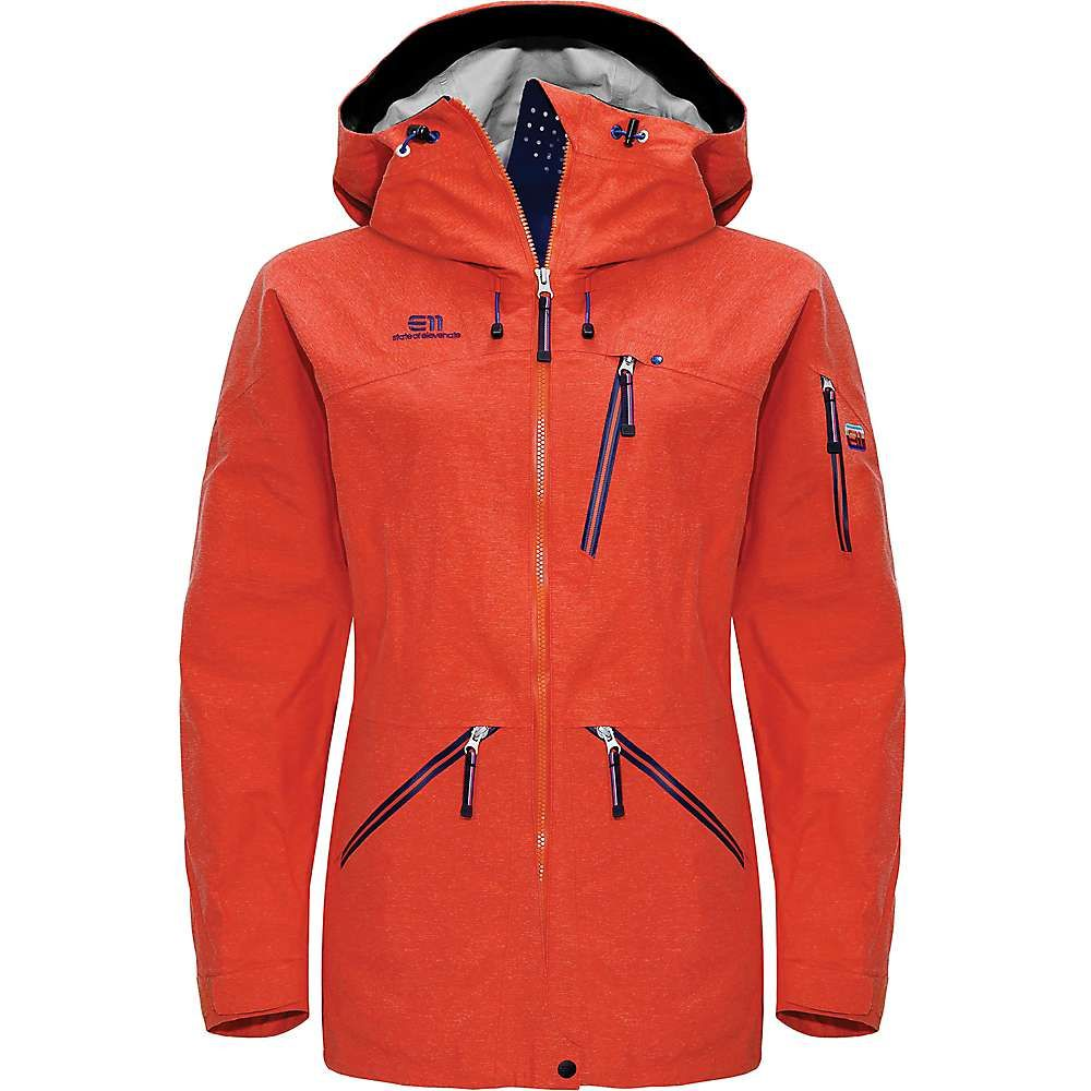 Elevenate レディース スキー・スノーボード ジャケット アウター【backside jacket】Red Glow