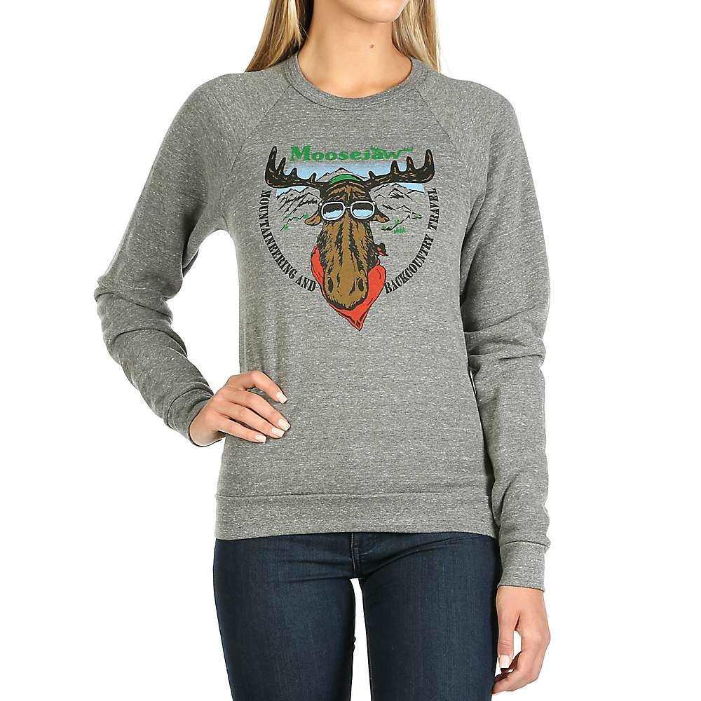 ムースジョー Moosejaw レディース スウェット・トレーナー トップス【classic classic moose crew neck sweatshirt】Heather Grey