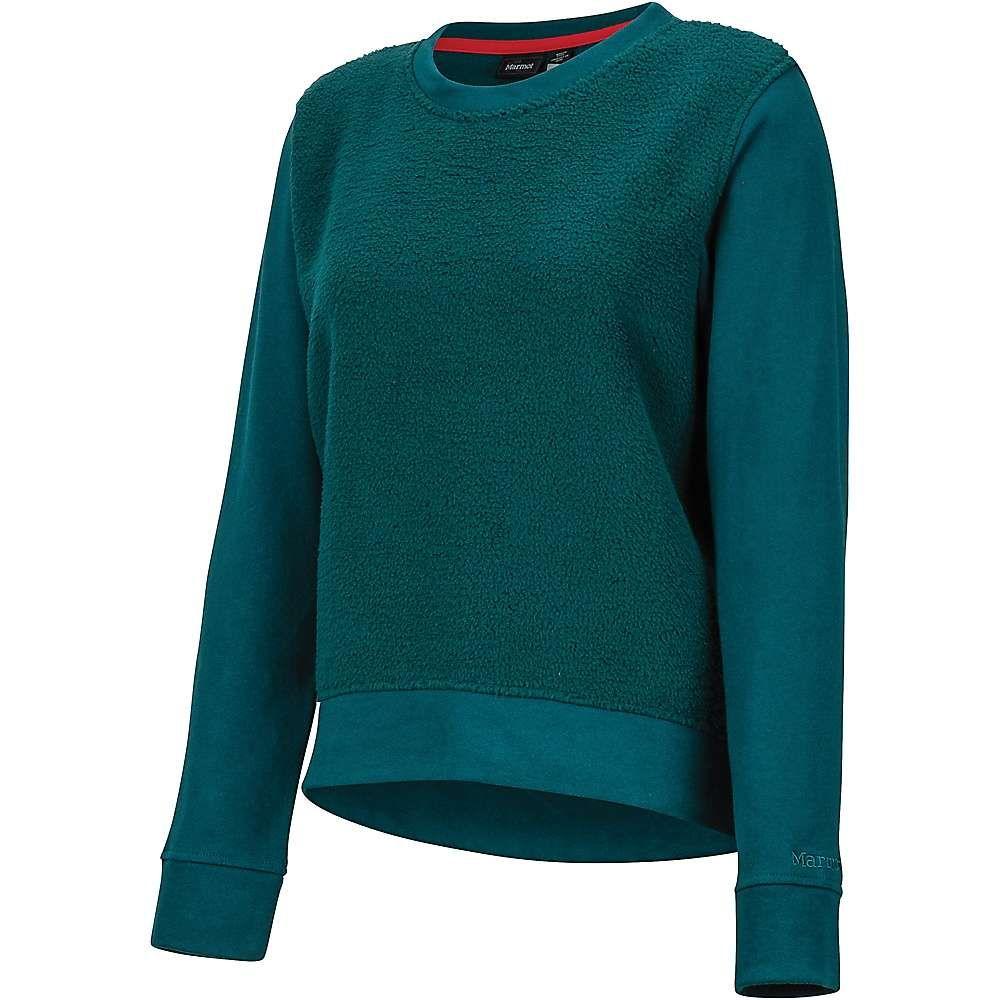 マーモット Marmot レディース スウェット・トレーナー トップス【crew neck sherpa sweatshirt】Deep Teal