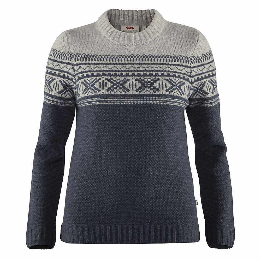 フェールラーベン Fjallraven レディース ニット・セーター トップス【ovik scandinavian sweater】Navy