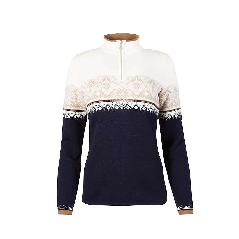 ダーレ オブ ノルウェイ Dale of Norway レディース ニット・セーター トップス【st. moritz feminine sweater】Navy/Bronze/Beige/Off White