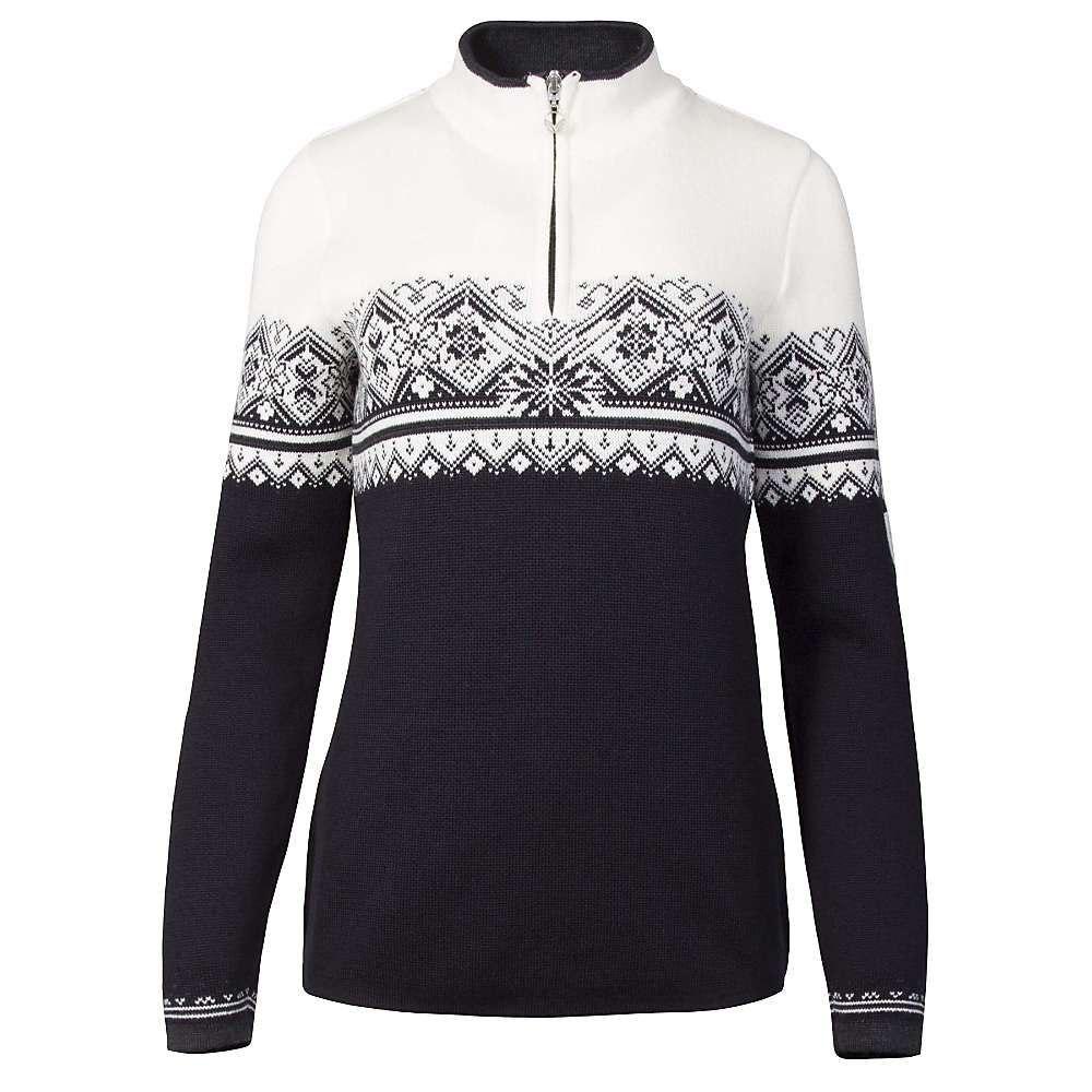 ダーレ オブ ノルウェイ Dale of Norway レディース ニット・セーター トップス【st. moritz feminine sweater】Black/White/Dark Charcoal