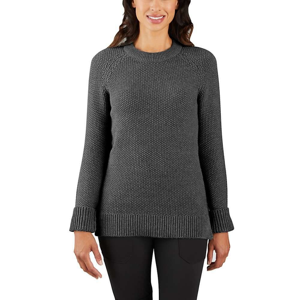 カーハート Carhartt レディース ニット・セーター トップス【crewneck sweater】Carbon Heather