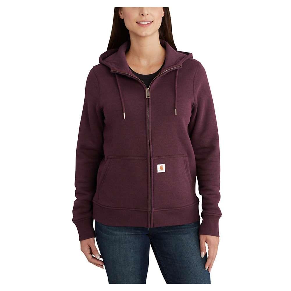 カーハート Carhartt レディース パーカー トップス【clarksburg full zip hoodie】Fudge Heather