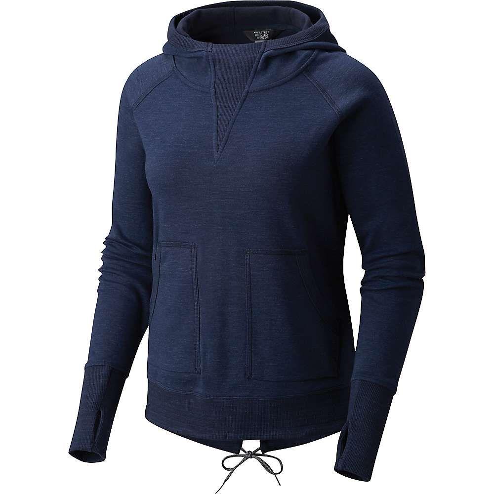 マウンテンハードウェア Mountain Hardwear レディース パーカー トップス【firetower long sleeve hoodie】Dark Zinc