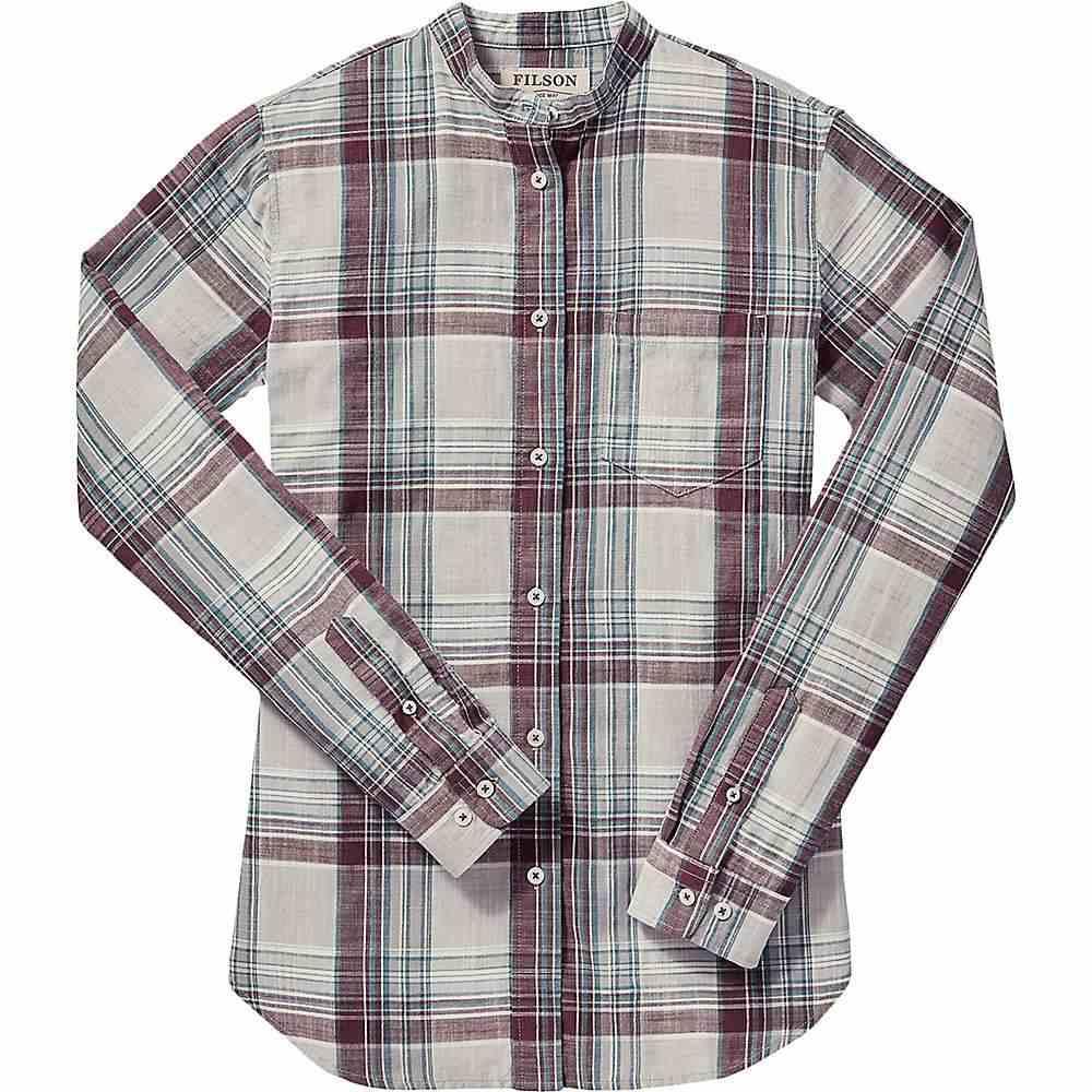 フィルソン Filson レディース ブラウス・シャツ トップス【shelton banded collar shirt】Gray/Blue/Plum Plaid