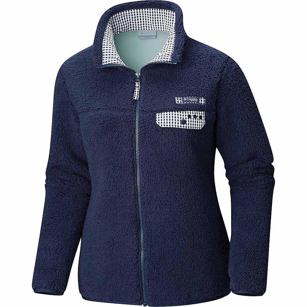 コロンビア Columbia レディース フリース トップス【harborside heavy weight full zip fleece jacket】Coll Navy/Coll Navy Gingham