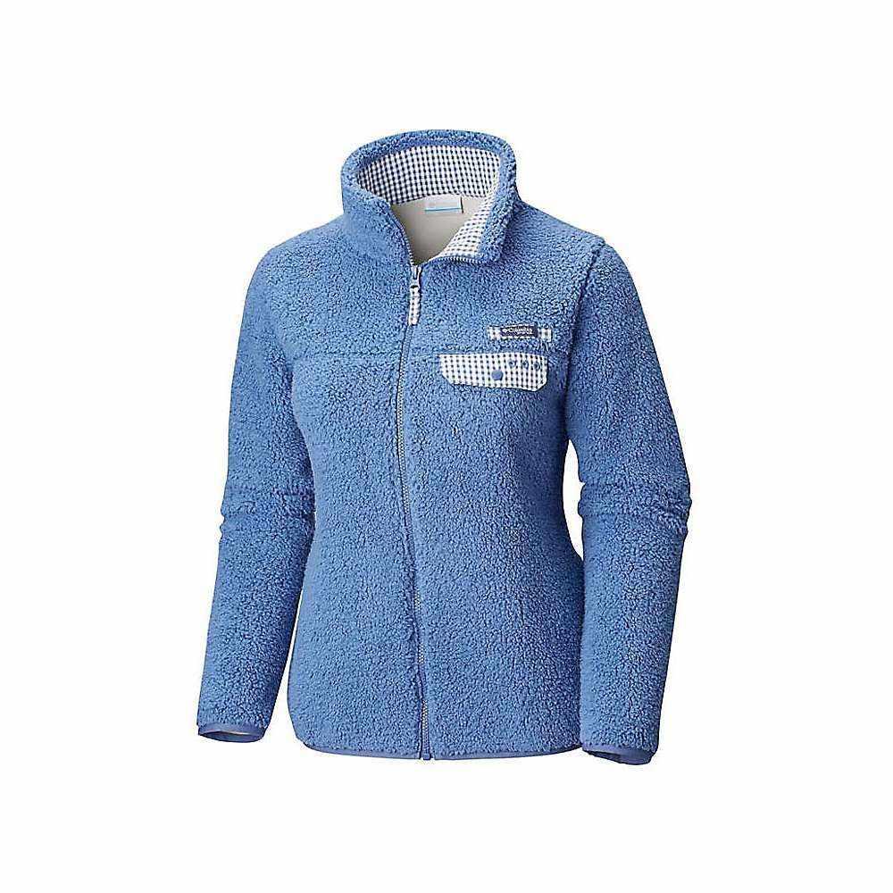 コロンビア Columbia レディース フリース トップス【harborside heavy weight full zip fleece jacket】Bluebell/Bluebell Gingham