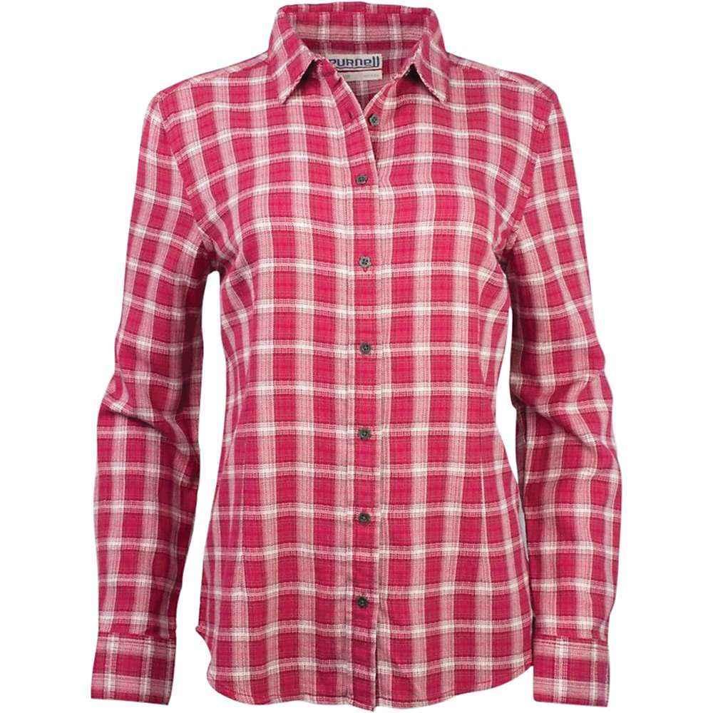 パーネル Purnell レディース ブラウス・シャツ フランネルシャツ トップス【vintage plaid flannel ls shirt】Red