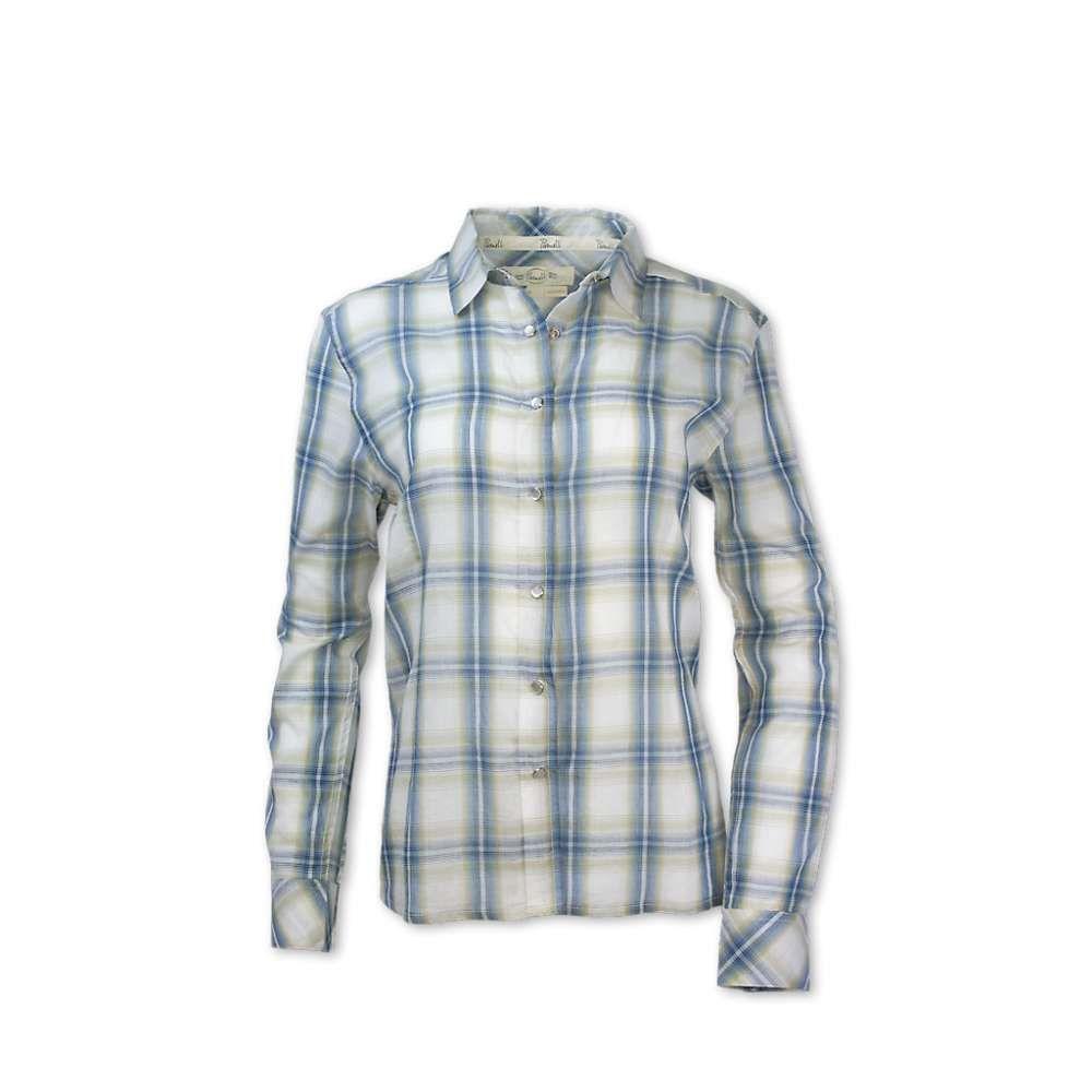 パーネル Purnell レディース ブラウス・シャツ トップス【acacia button-up shirt】Blue/Green Plaid
