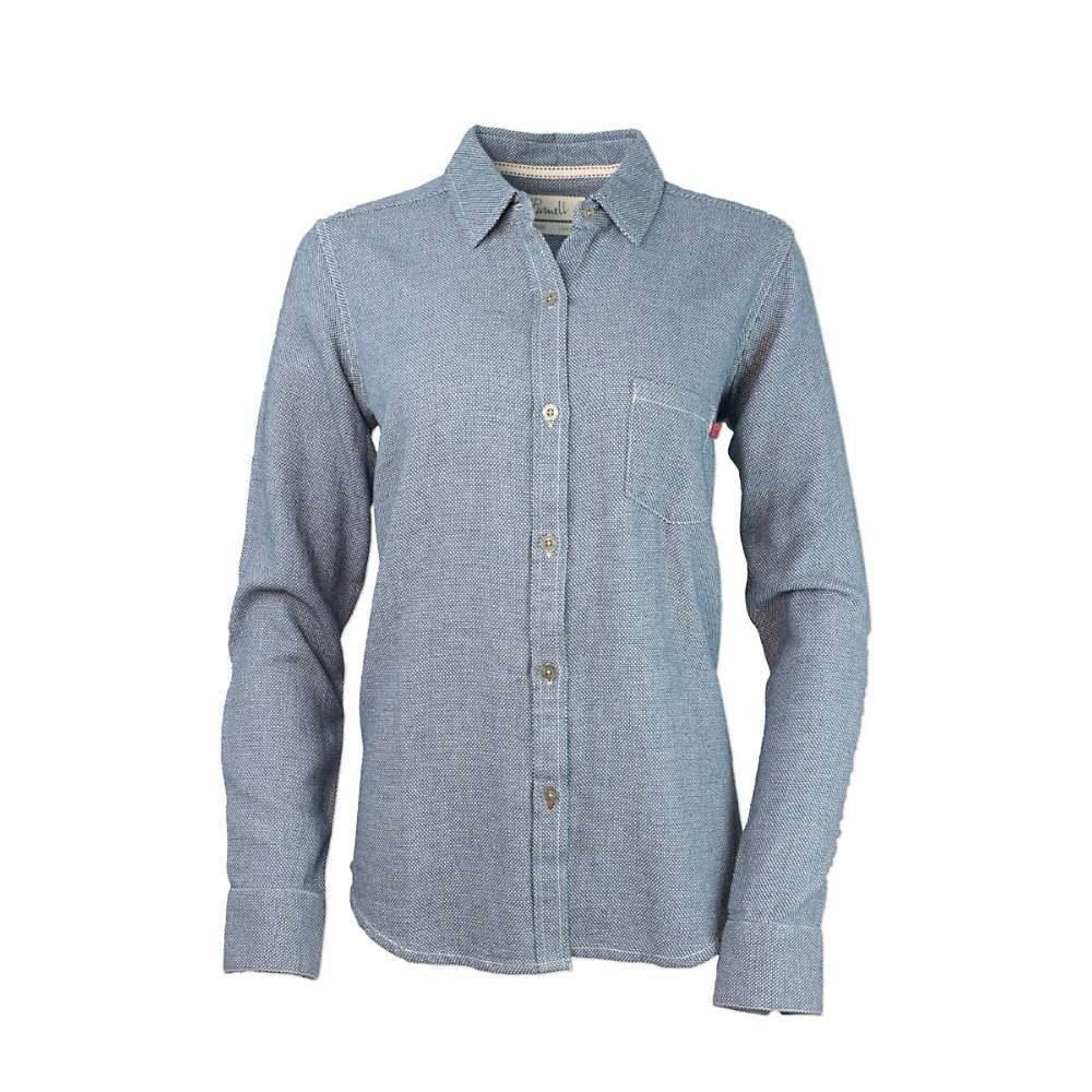 パーネル Purnell レディース ブラウス・シャツ トップス【dobby button-up shirt】Indigo