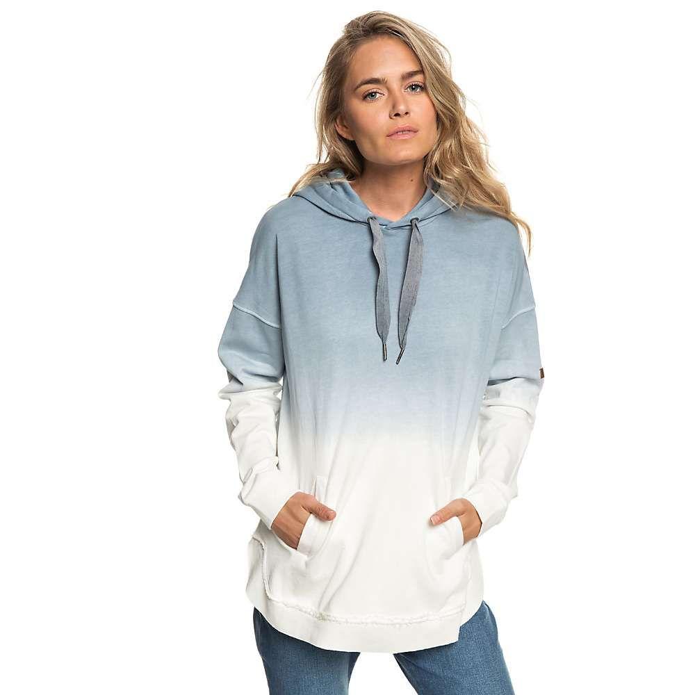 ロキシー Roxy レディース ポンチョ アウター【time has come poncho hoodie】Blue Mirage Heather