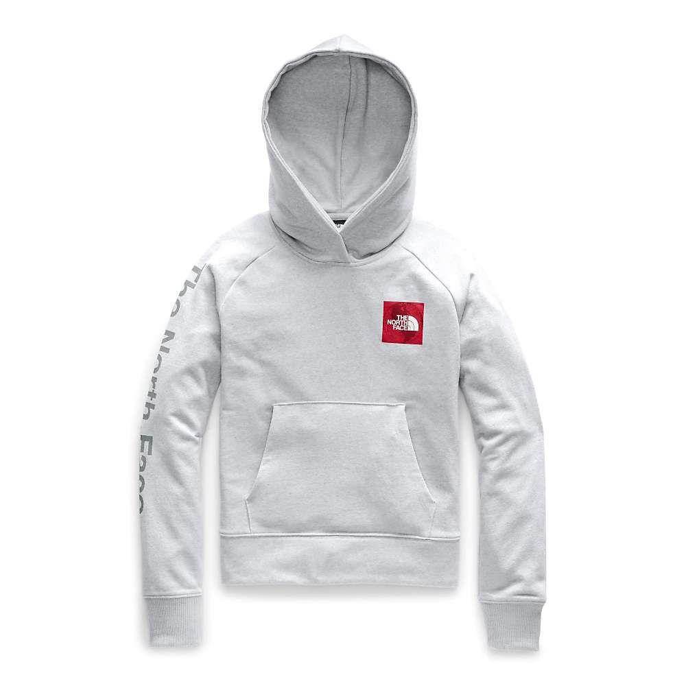 ザ ノースフェイス The North Face レディース パーカー トップス【recycled materials pullover hoodie】TNF Light Grey Heather/TNF Red