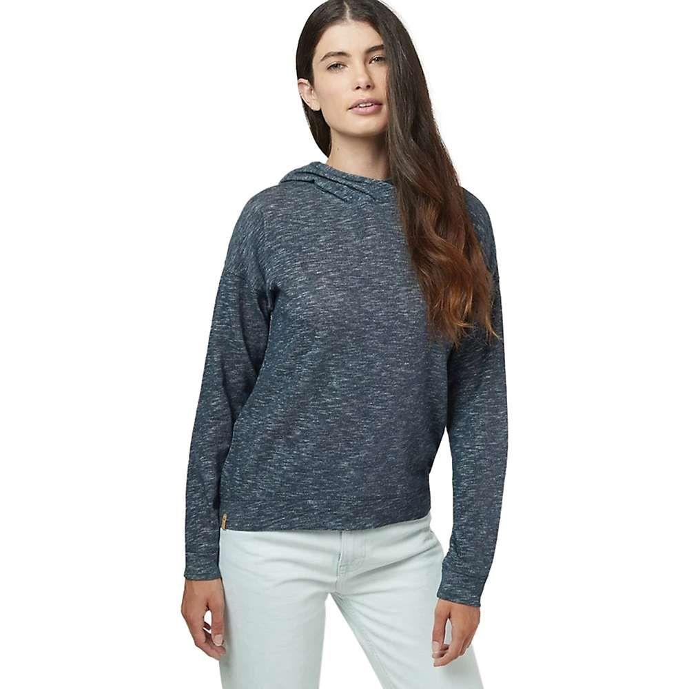 テンツリー tentree レディース パーカー トップス【burney knit hoodie】Dark Ocean Blue Marled