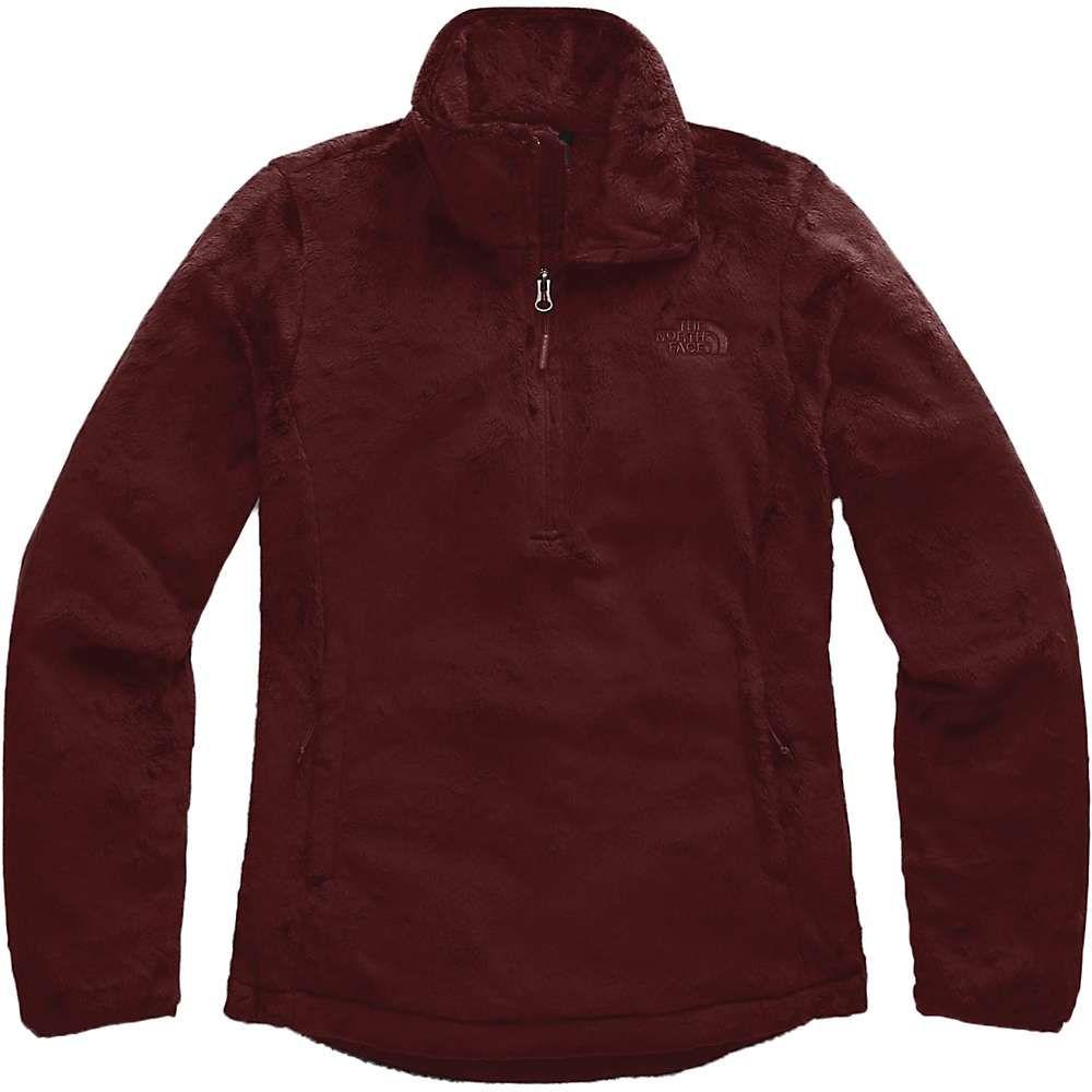 ザ ノースフェイス The North Face レディース フリース トップス【osito 1/4 zip pullover】Deep Garnet Red