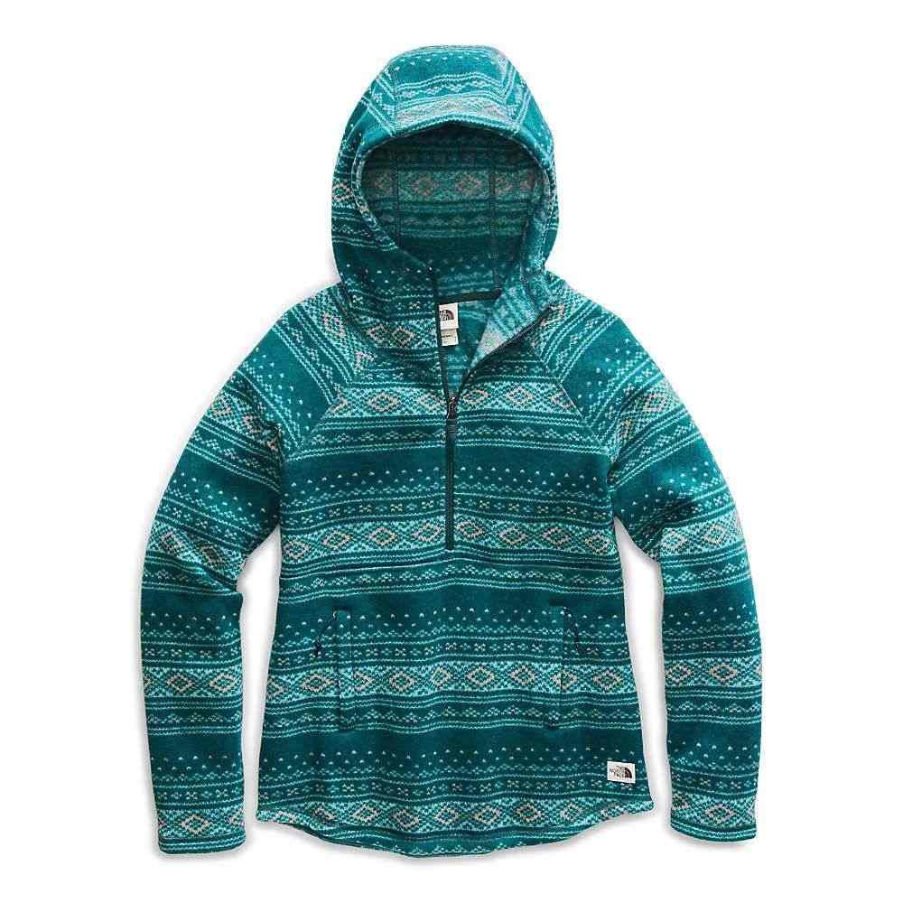 ザ ノースフェイス The North Face レディース フリース トップス【printed crescent hooded pullover】Ponderosa Green Fair Isle Print