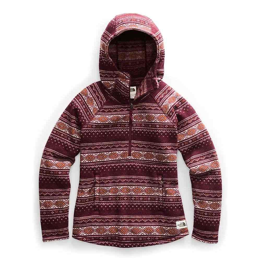 ザ ノースフェイス The North Face レディース フリース トップス【printed crescent hooded pullover】Deep Garnet Red Fair Isle Print