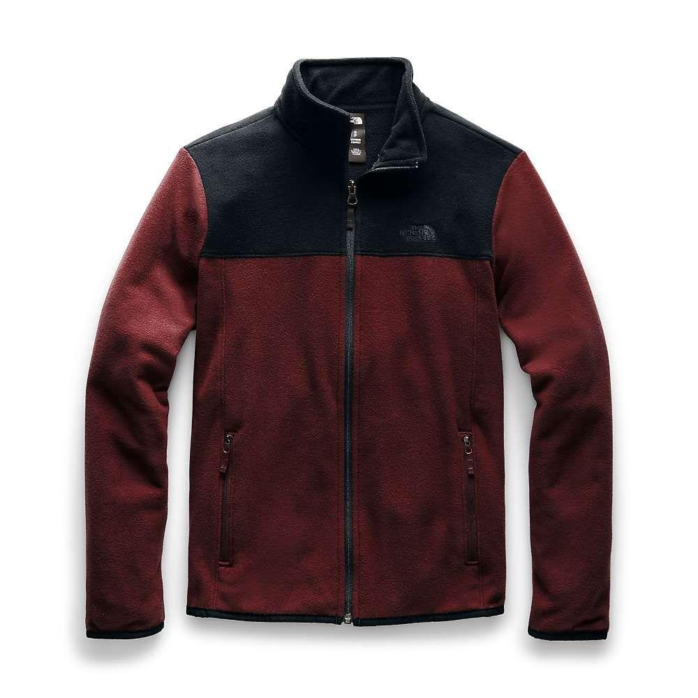 ザ ノースフェイス The North Face レディース フリース トップス【tka glacier full zip jacket】Deep Garnet Red/TNF Black