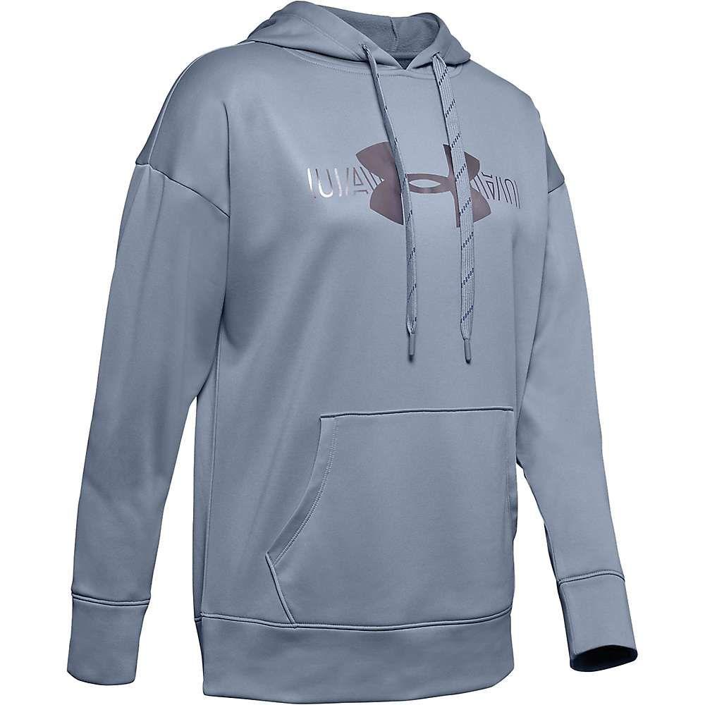 アンダーアーマー Under Armour レディース フリース トップス【synthetic fleece graphic logo popover】Blue Heights/Downpour Grey/Tonal