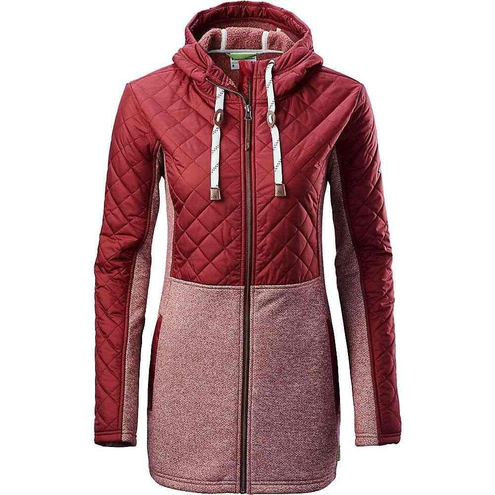 カトマンズ Kathmandu レディース フリース ロング トップス【forerunner longline jacket】Russet Marle