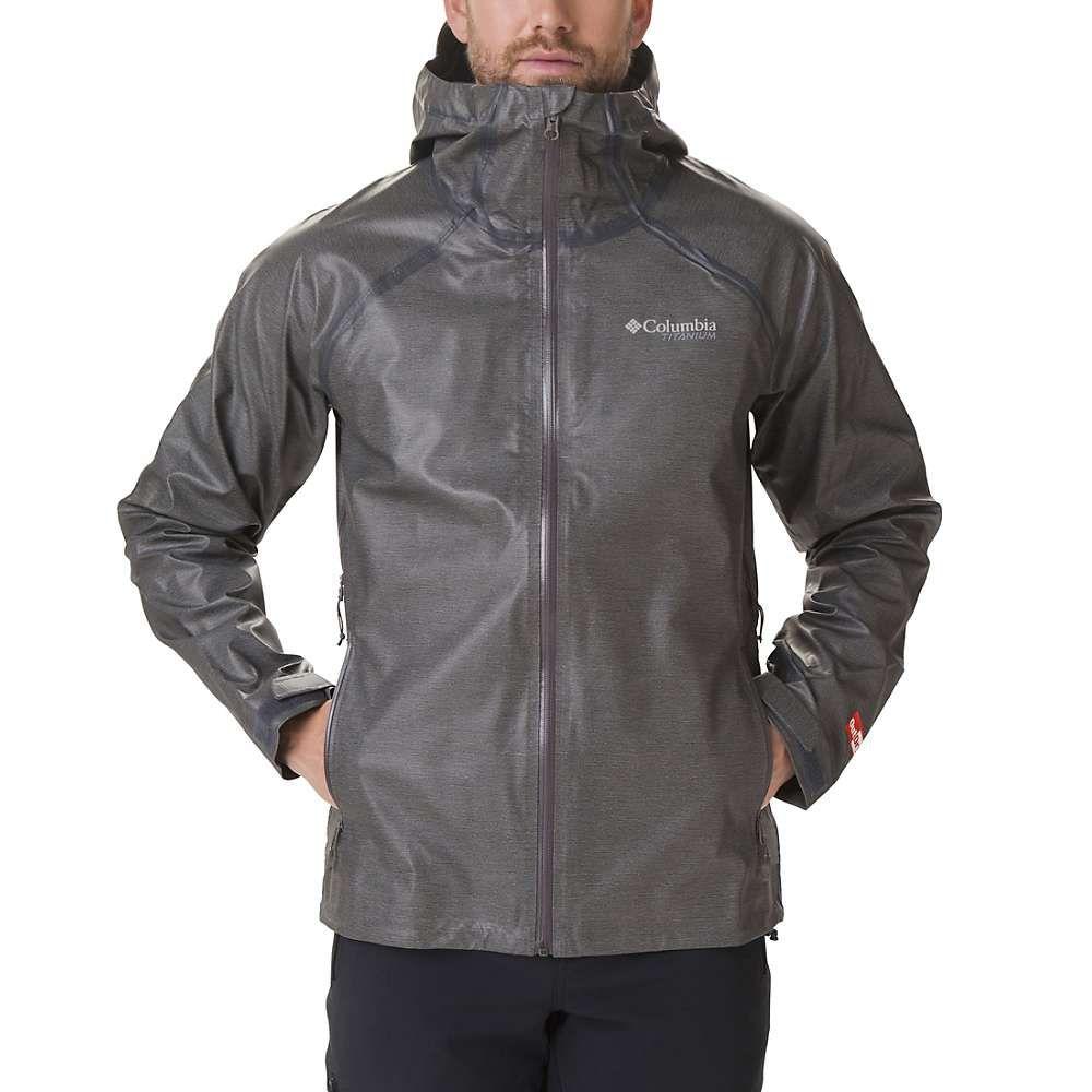 コロンビア Columbia メンズ レインコート アウター【titanium outdry ex reign jacket】Charcoal Heather