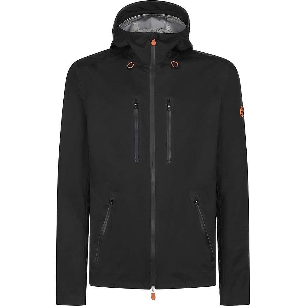 セイブ ザ ダック Save The Duck メンズ レインコート アウター【4-pocket zip up rain coat】Black