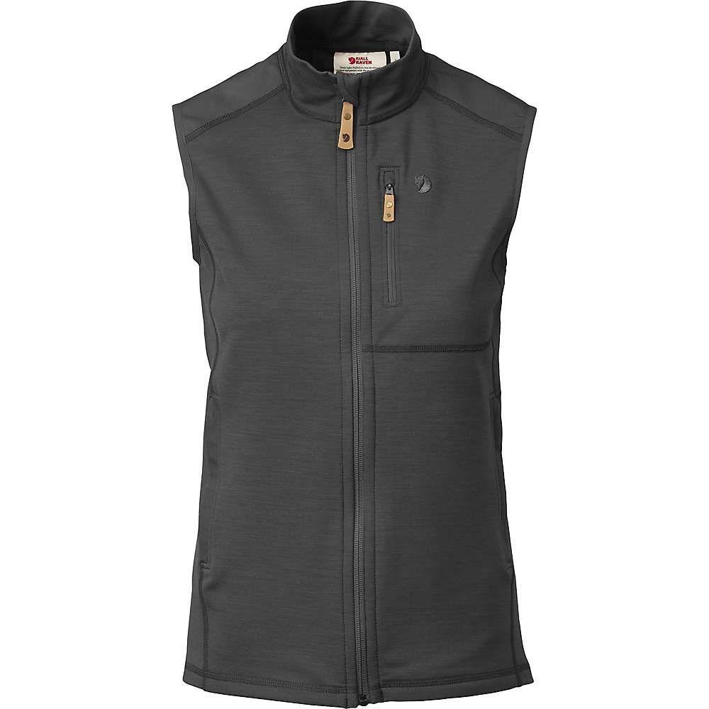 フェールラーベン Fjallraven レディース ベスト・ジレ トップス【keb fleece vest】Dark Grey-Black