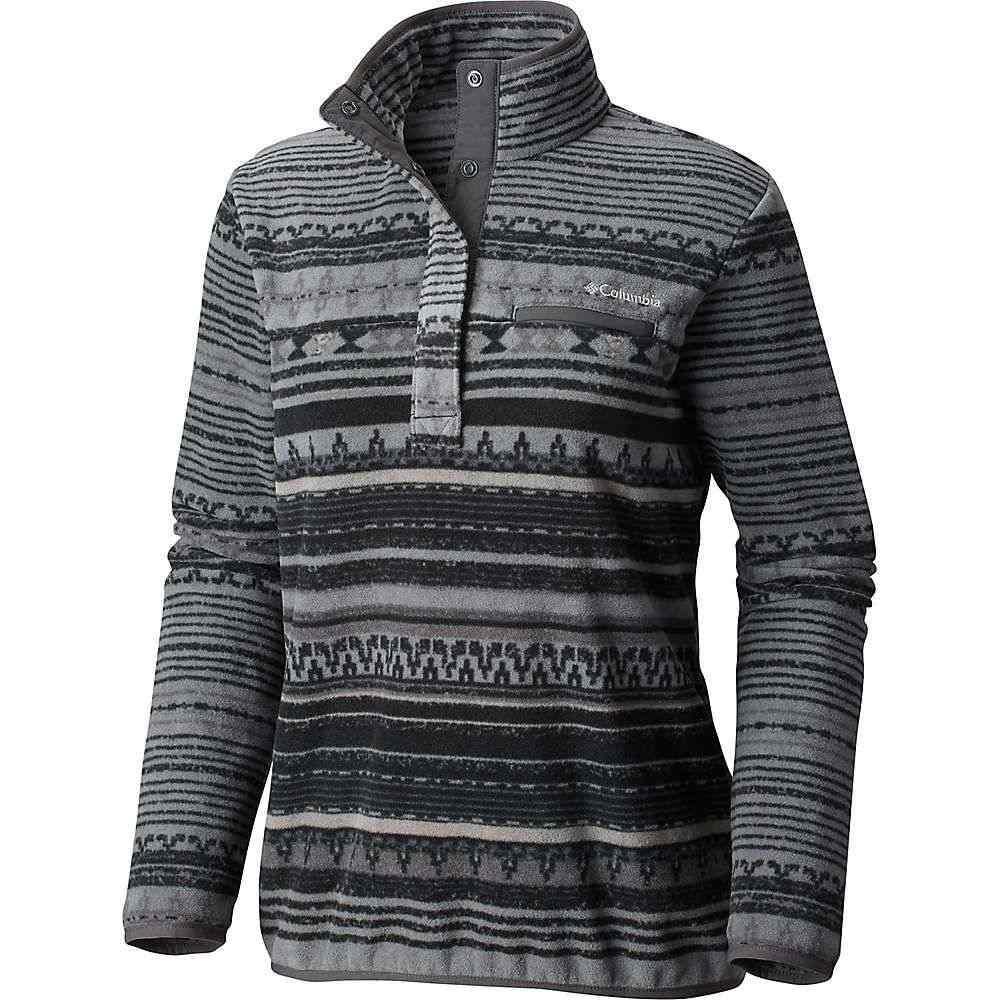 コロンビア Columbia レディース フリース トップス【mountain side printed pullover】Black