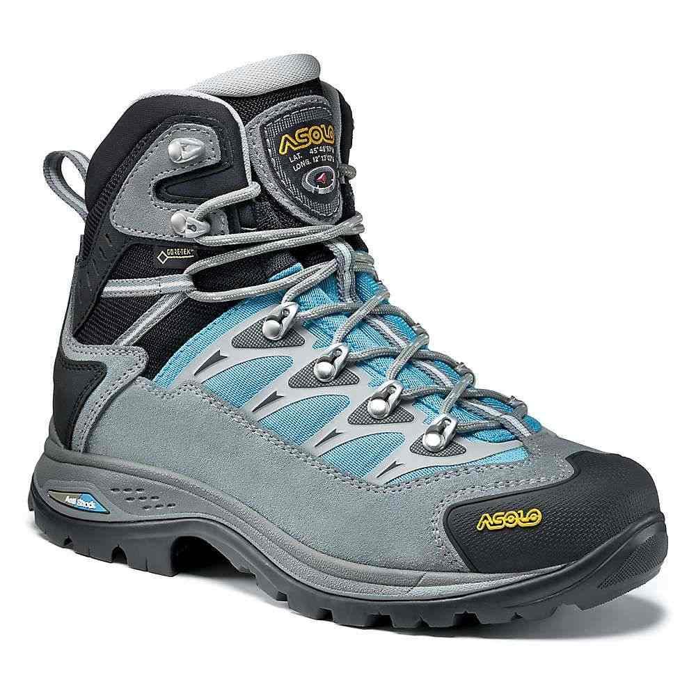 アゾロ Asolo レディース ハイキング・登山 ブーツ シューズ・靴【touchstone gv boot】Cloudy Grey/Blue Atoll