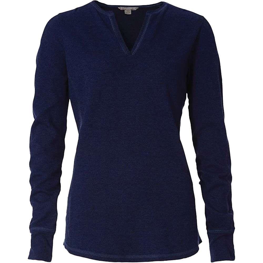 ロイヤルロビンズ Royal Robbins レディース 長袖Tシャツ ヘンリーシャツ トップス【mountain henley】Twilight Blue