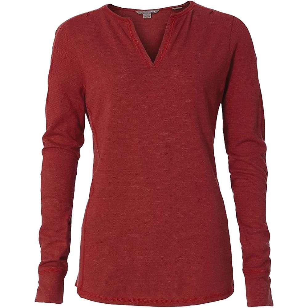 ロイヤルロビンズ Royal Robbins レディース 長袖Tシャツ ヘンリーシャツ トップス【mountain henley】Brick Red